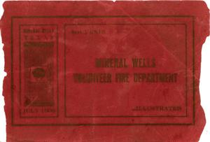 Primary view of object titled 'Mineral Wells Volunteer Fire Department (Souvenir)'.