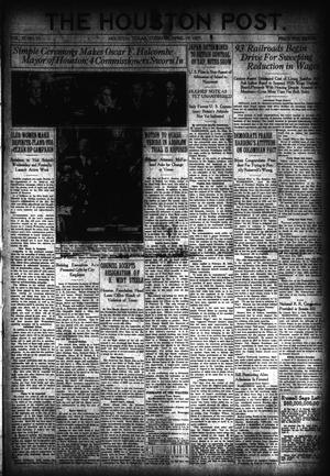 Primary view of object titled 'The Houston Post. (Houston, Tex.), Vol. 37, No. 15, Ed. 1 Tuesday, April 19, 1921'.