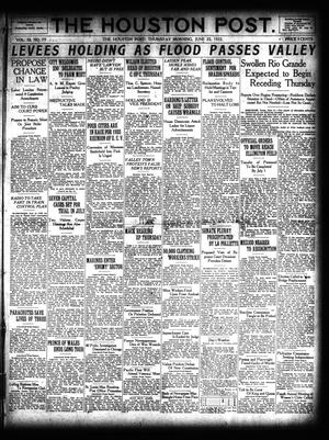 Primary view of object titled 'The Houston Post. (Houston, Tex.), Vol. 38, No. 79, Ed. 1 Thursday, June 22, 1922'.