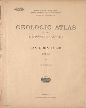 Primary view of object titled 'Geologic Atlas of the United States: Van Horn Folio, Texas'.
