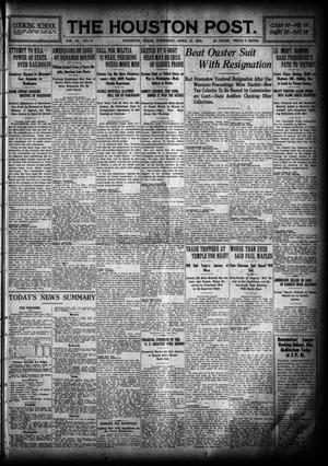 Primary view of object titled 'The Houston Post. (Houston, Tex.), Vol. 31, No. 9, Ed. 1 Thursday, April 13, 1916'.