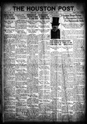 Primary view of object titled 'The Houston Post. (Houston, Tex.), Vol. 35, No. 120, Ed. 1 Saturday, August 2, 1919'.