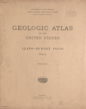 Primary view of object titled 'Geologic Atlas of the United States: Llano-Burnet Folio, Texas'.