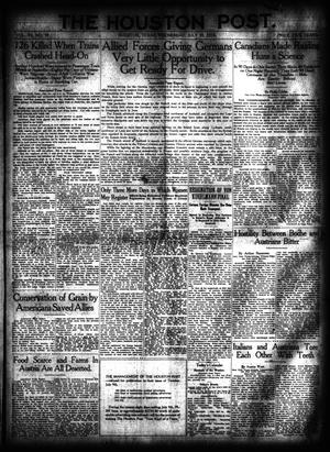 Primary view of object titled 'The Houston Post. (Houston, Tex.), Vol. 34, No. 97, Ed. 1 Wednesday, July 10, 1918'.