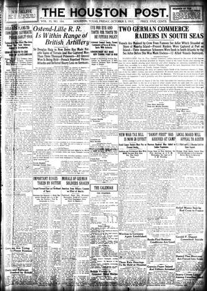 Primary view of object titled 'The Houston Post. (Houston, Tex.), Vol. 33, No. 184, Ed. 1 Friday, October 5, 1917'.