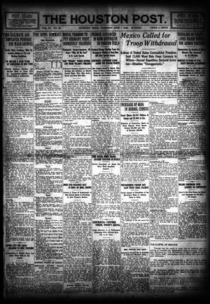 Primary view of object titled 'The Houston Post. (Houston, Tex.), Vol. 31, No. 58, Ed. 1 Thursday, June 1, 1916'.