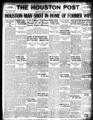Primary view of object titled 'The Houston Post. (Houston, Tex.), Vol. 39, No. 334, Ed. 1 Monday, March 3, 1924'.