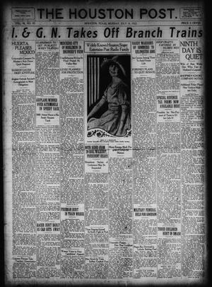 Primary view of object titled 'The Houston Post. (Houston, Tex.), Vol. 38, No. 97, Ed. 1 Monday, July 10, 1922'.
