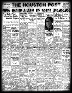 Primary view of object titled 'The Houston Post. (Houston, Tex.), Vol. 38, No. 69, Ed. 1 Monday, June 12, 1922'.