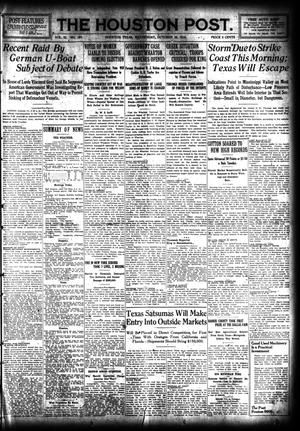 Primary view of object titled 'The Houston Post. (Houston, Tex.), Vol. 31, No. 197, Ed. 1 Wednesday, October 18, 1916'.