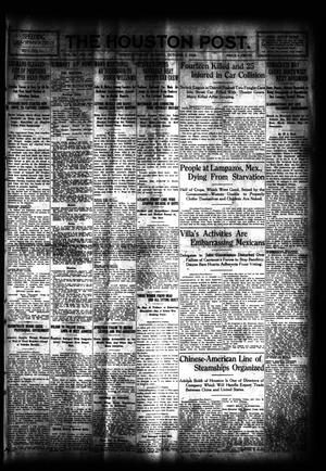Primary view of object titled 'The Houston Post. (Houston, Tex.), Vol. 31, No. 181, Ed. 1 Monday, October 2, 1916'.