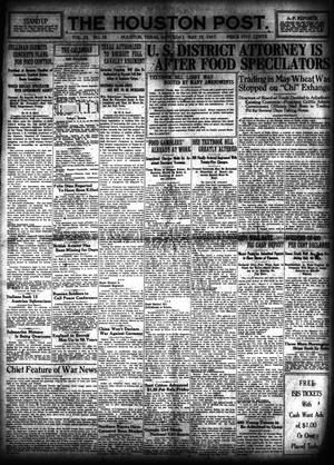 Primary view of object titled 'The Houston Post. (Houston, Tex.), Vol. 33, No. 38, Ed. 1 Saturday, May 12, 1917'.