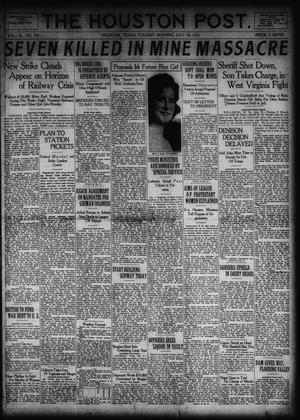 Primary view of object titled 'The Houston Post. (Houston, Tex.), Vol. 38, No. 105, Ed. 1 Tuesday, July 18, 1922'.
