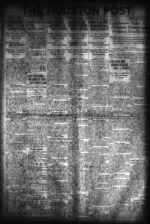 Primary view of object titled 'The Houston Post. (Houston, Tex.), Vol. 36, No. 285, Ed. 1 Thursday, January 13, 1921'.