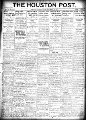 Primary view of object titled 'The Houston Post. (Houston, Tex.), Vol. 37, No. 239, Ed. 1 Tuesday, November 29, 1921'.