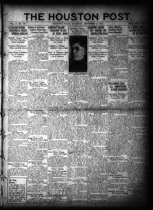 Primary view of object titled 'The Houston Post. (Houston, Tex.), Vol. 35, No. 155, Ed. 1 Saturday, September 6, 1919'.