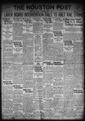 Primary view of object titled 'The Houston Post. (Houston, Tex.), Vol. 38, No. 88, Ed. 1 Saturday, July 1, 1922'.