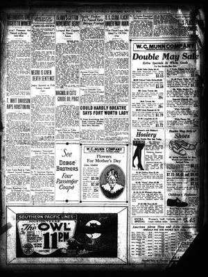 Primary view of object titled 'The Houston Post. (Houston, Tex.), Ed. 1 Saturday, May 10, 1924'.