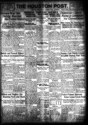 Primary view of object titled 'The Houston Post. (Houston, Tex.), Vol. 31, No. 187, Ed. 1 Sunday, October 8, 1916'.