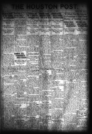 Primary view of object titled 'The Houston Post. (Houston, Tex.), Vol. 37, No. 50, Ed. 1 Tuesday, May 24, 1921'.
