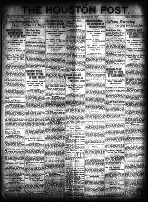 Primary view of object titled 'The Houston Post. (Houston, Tex.), Vol. 35, No. 201, Ed. 1 Wednesday, October 22, 1919'.