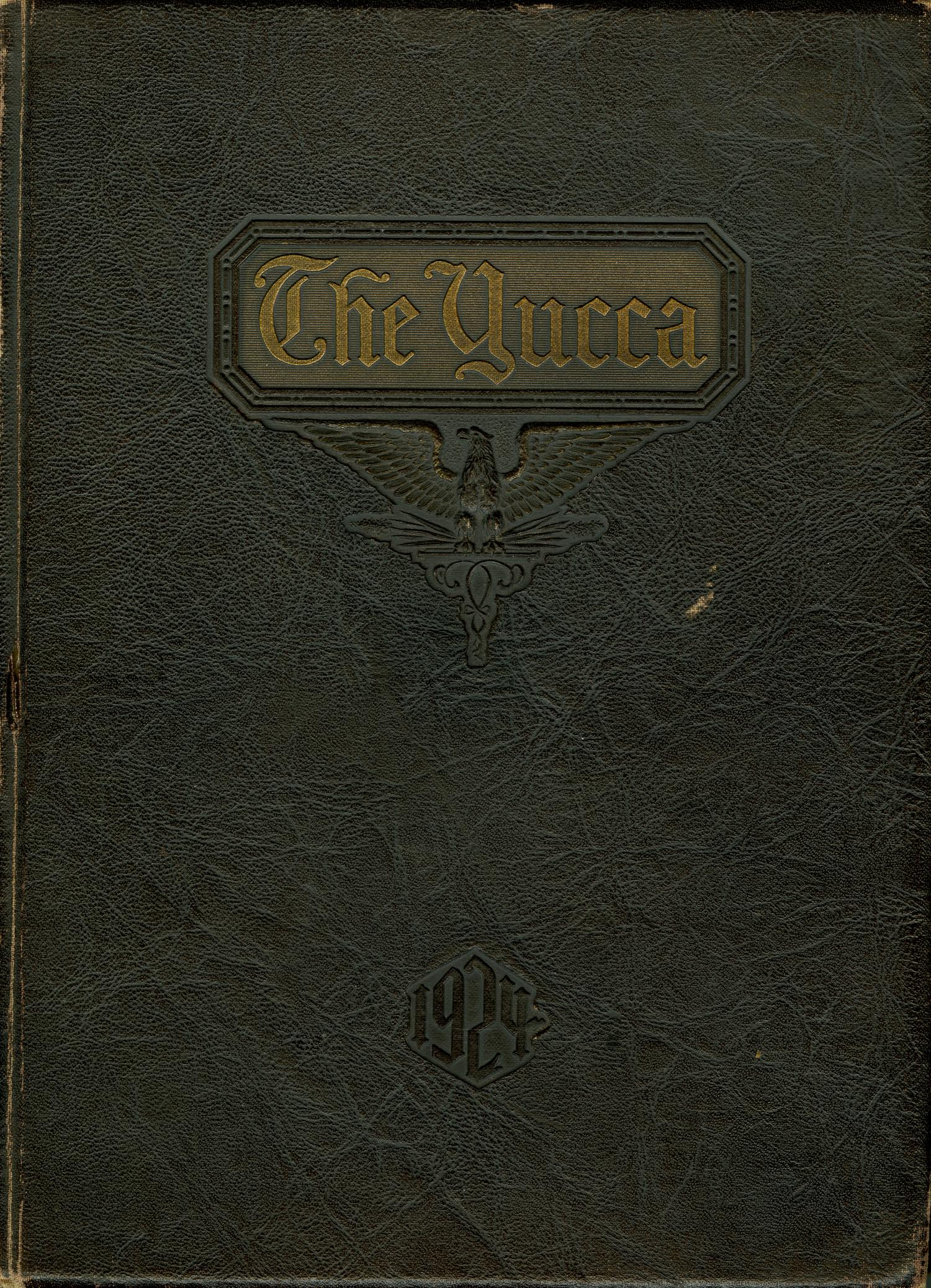 The Yucca, Yearbook of North Texas State Teacher's School, 1924                                                                                                      Front Cover