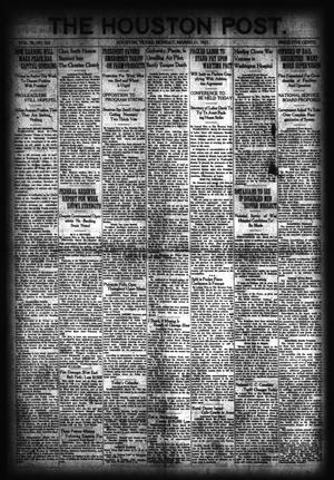 Primary view of object titled 'The Houston Post. (Houston, Tex.), Vol. 36, No. 352, Ed. 1 Monday, March 21, 1921'.