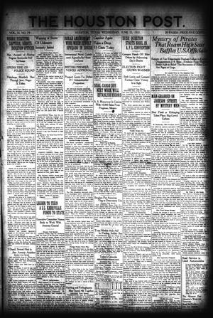 Primary view of object titled 'The Houston Post. (Houston, Tex.), Vol. 37, No. 79, Ed. 1 Wednesday, June 22, 1921'.