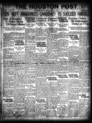 Primary view of object titled 'The Houston Post. (Houston, Tex.), Vol. 38, No. 82, Ed. 1 Sunday, June 25, 1922'.