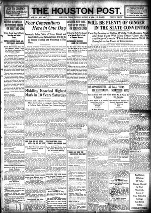 Primary view of object titled 'The Houston Post. (Houston, Tex.), Vol. 31, No. 124, Ed. 1 Sunday, August 6, 1916'.