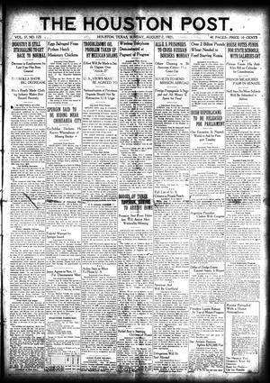 Primary view of object titled 'The Houston Post. (Houston, Tex.), Vol. 37, No. 125, Ed. 1 Sunday, August 7, 1921'.
