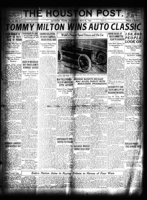 Primary view of object titled 'The Houston Post. (Houston, Tex.), Vol. 39, No. 57, Ed. 1 Thursday, May 31, 1923'.