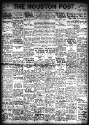 Primary view of object titled 'The Houston Post. (Houston, Tex.), Vol. 39, No. 173, Ed. 1 Monday, September 24, 1923'.