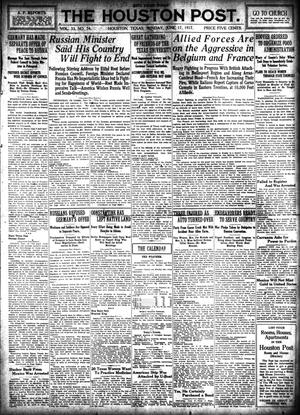 Primary view of object titled 'The Houston Post. (Houston, Tex.), Vol. 33, No. 74, Ed. 1 Sunday, June 17, 1917'.