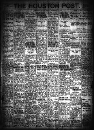 Primary view of object titled 'The Houston Post. (Houston, Tex.), Vol. 39, No. 212, Ed. 1 Friday, November 2, 1923'.