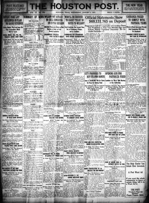 Primary view of object titled 'The Houston Post. (Houston, Tex.), Vol. 31, No. 274, Ed. 1 Wednesday, January 3, 1917'.