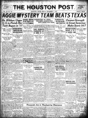 Primary view of object titled 'The Houston Post. (Houston, Tex.), Vol. 38, No. 241, Ed. 1 Friday, December 1, 1922'.