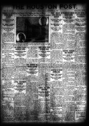 Primary view of object titled 'The Houston Post. (Houston, Tex.), Vol. 34, No. 232, Ed. 1 Friday, November 22, 1918'.