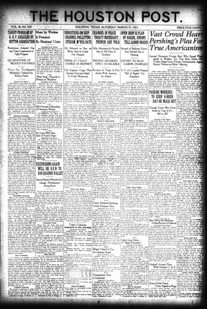 Primary view of object titled 'The Houston Post. (Houston, Tex.), Vol. 36, No. 350, Ed. 1 Saturday, March 19, 1921'.