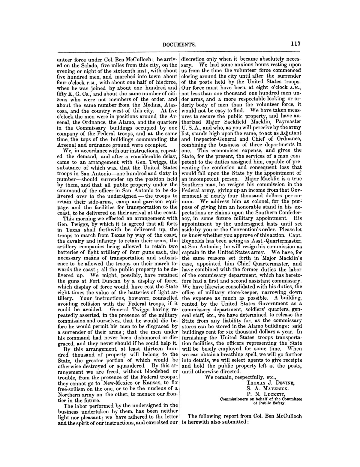 The treachery in Texas, the secession of Texas, and the arrest of the United States officers and soldiers serving in Texas. Read before the New-York Historical Society, June 25, 1861. By Major J. T. Sprague, U. S. A.                                                                                                      [Sequence #]: 11 of 36
