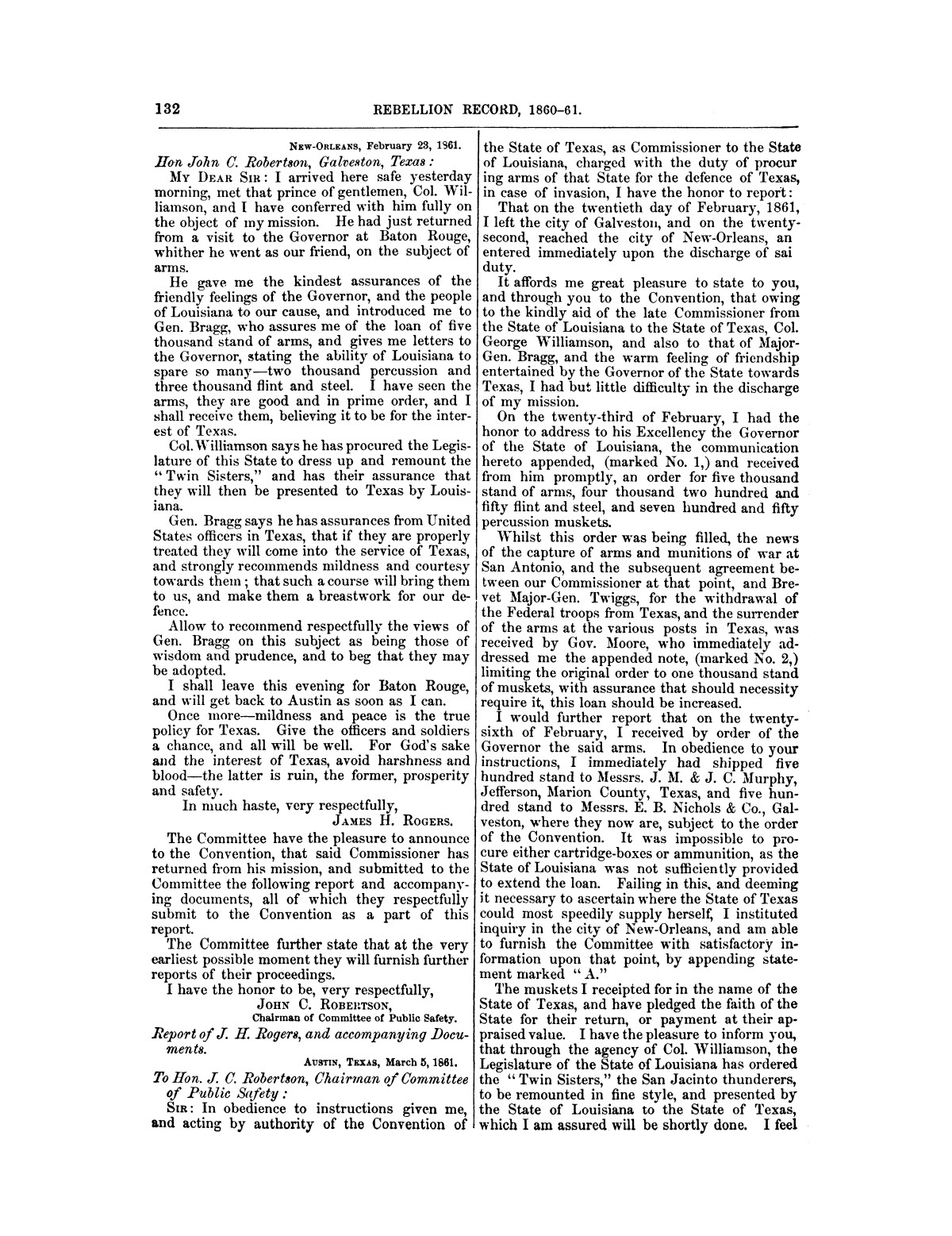 The treachery in Texas, the secession of Texas, and the arrest of the United States officers and soldiers serving in Texas. Read before the New-York Historical Society, June 25, 1861. By Major J. T. Sprague, U. S. A.                                                                                                      [Sequence #]: 26 of 36