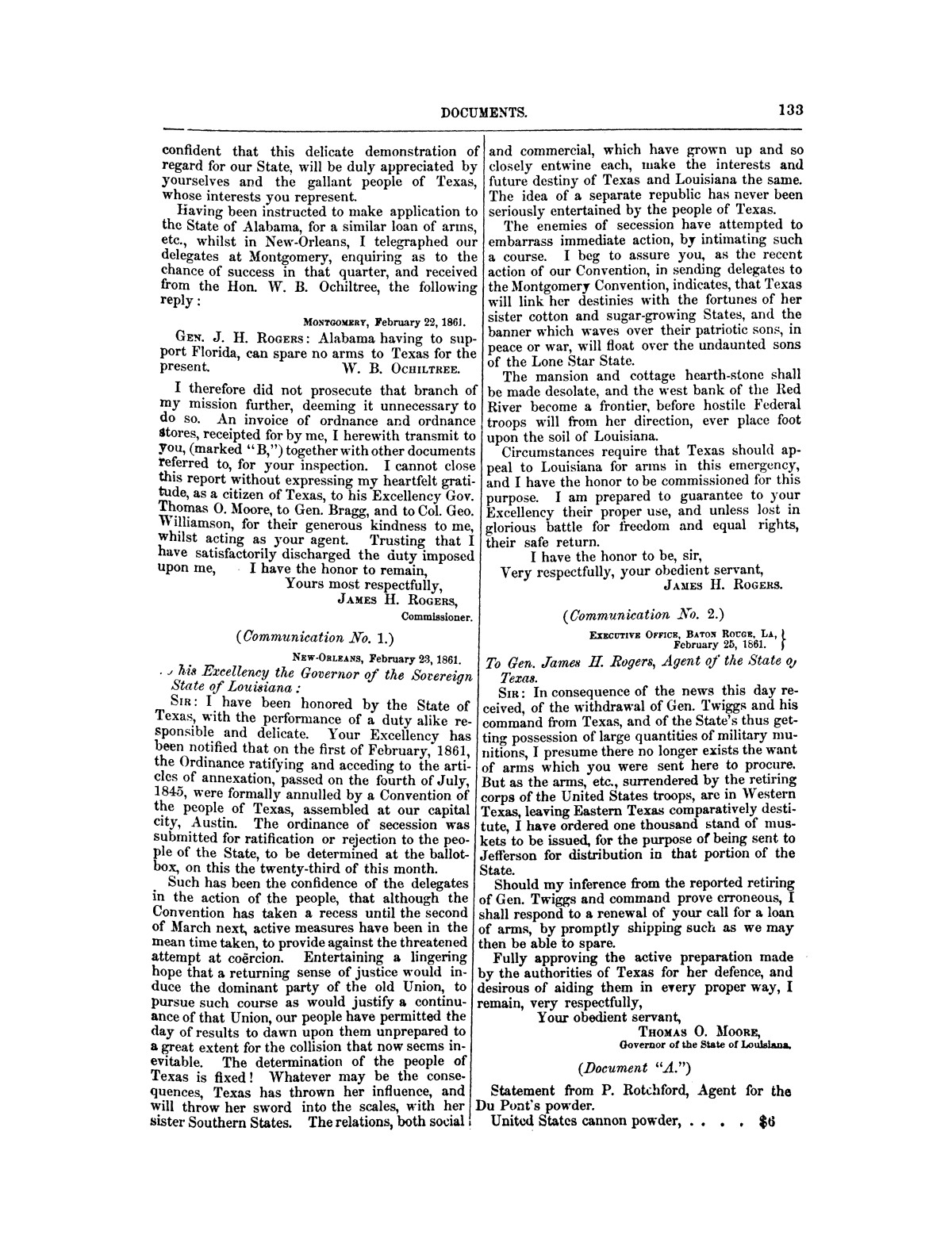 The treachery in Texas, the secession of Texas, and the arrest of the United States officers and soldiers serving in Texas. Read before the New-York Historical Society, June 25, 1861. By Major J. T. Sprague, U. S. A.                                                                                                      [Sequence #]: 27 of 36