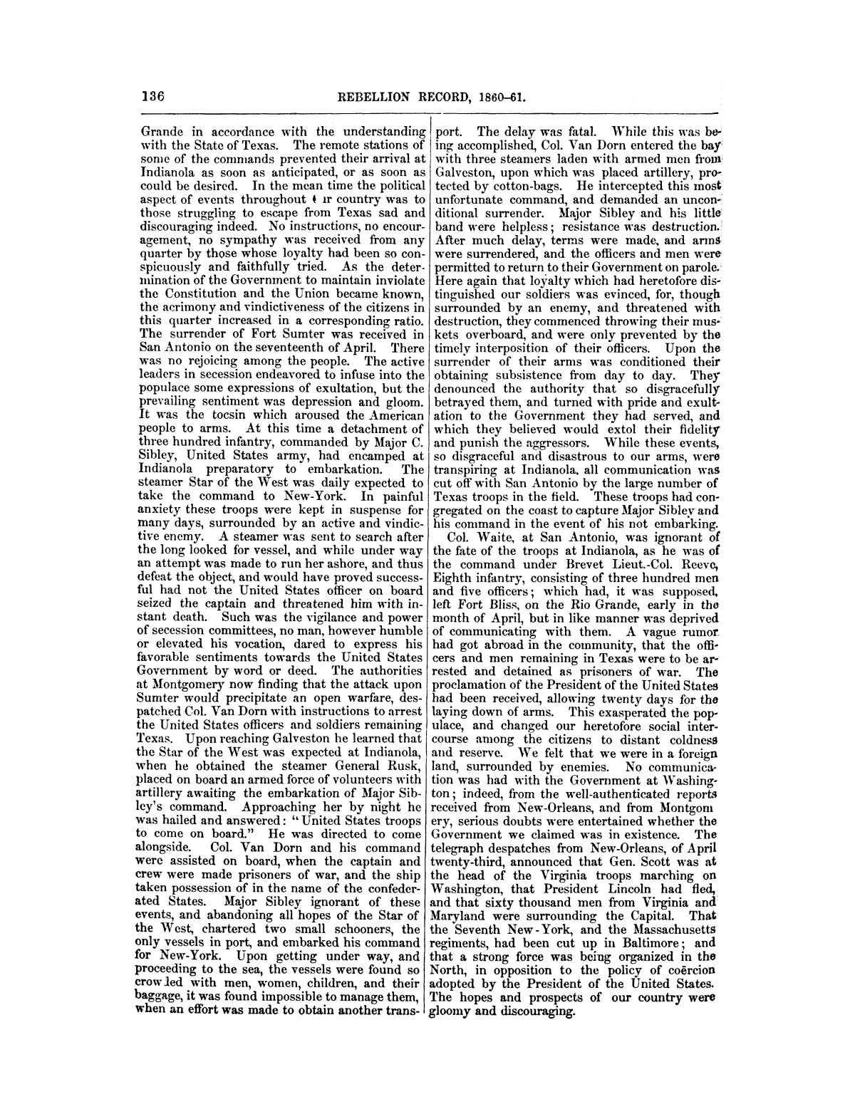 The treachery in Texas, the secession of Texas, and the arrest of the United States officers and soldiers serving in Texas. Read before the New-York Historical Society, June 25, 1861. By Major J. T. Sprague, U. S. A.                                                                                                      [Sequence #]: 30 of 36