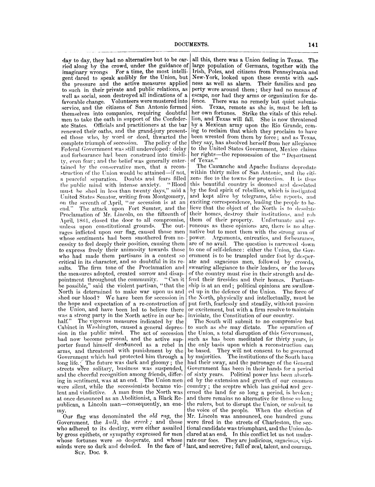 The treachery in Texas, the secession of Texas, and the arrest of the United States officers and soldiers serving in Texas. Read before the New-York Historical Society, June 25, 1861. By Major J. T. Sprague, U. S. A.                                                                                                      [Sequence #]: 35 of 36