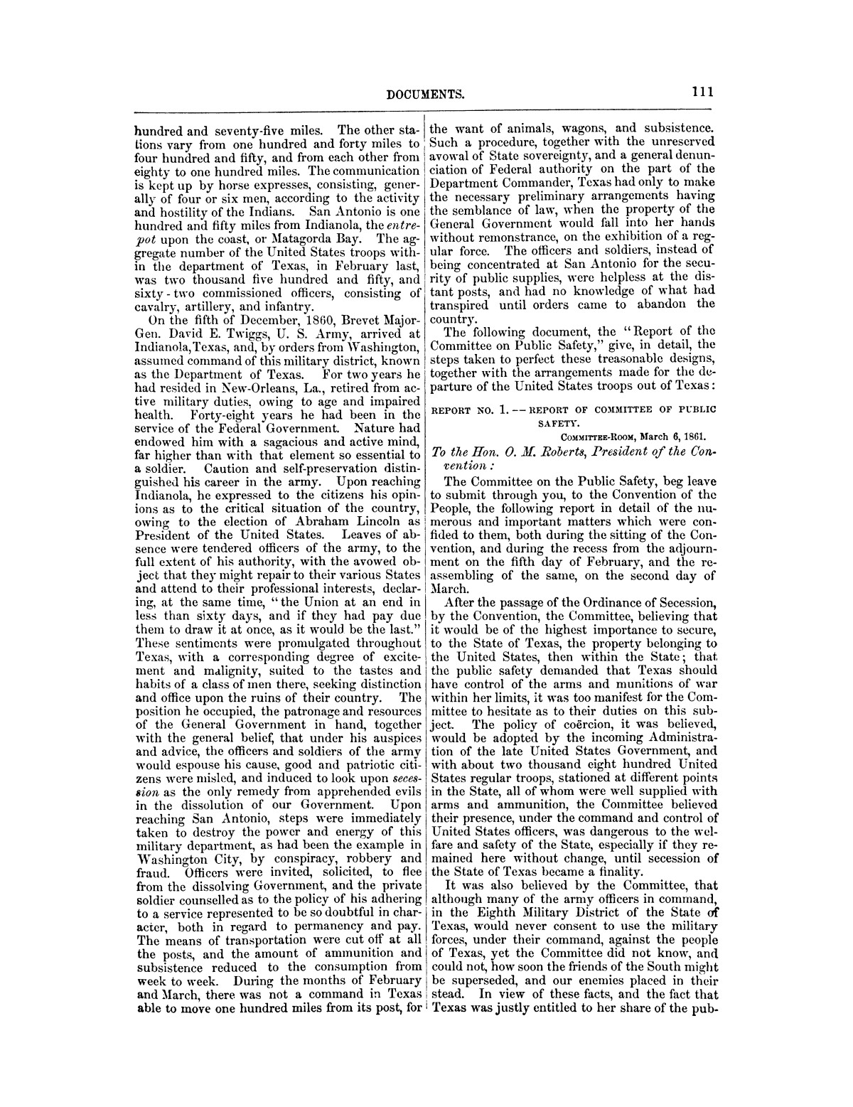 The treachery in Texas, the secession of Texas, and the arrest of the United States officers and soldiers serving in Texas. Read before the New-York Historical Society, June 25, 1861. By Major J. T. Sprague, U. S. A.                                                                                                      [Sequence #]: 5 of 36