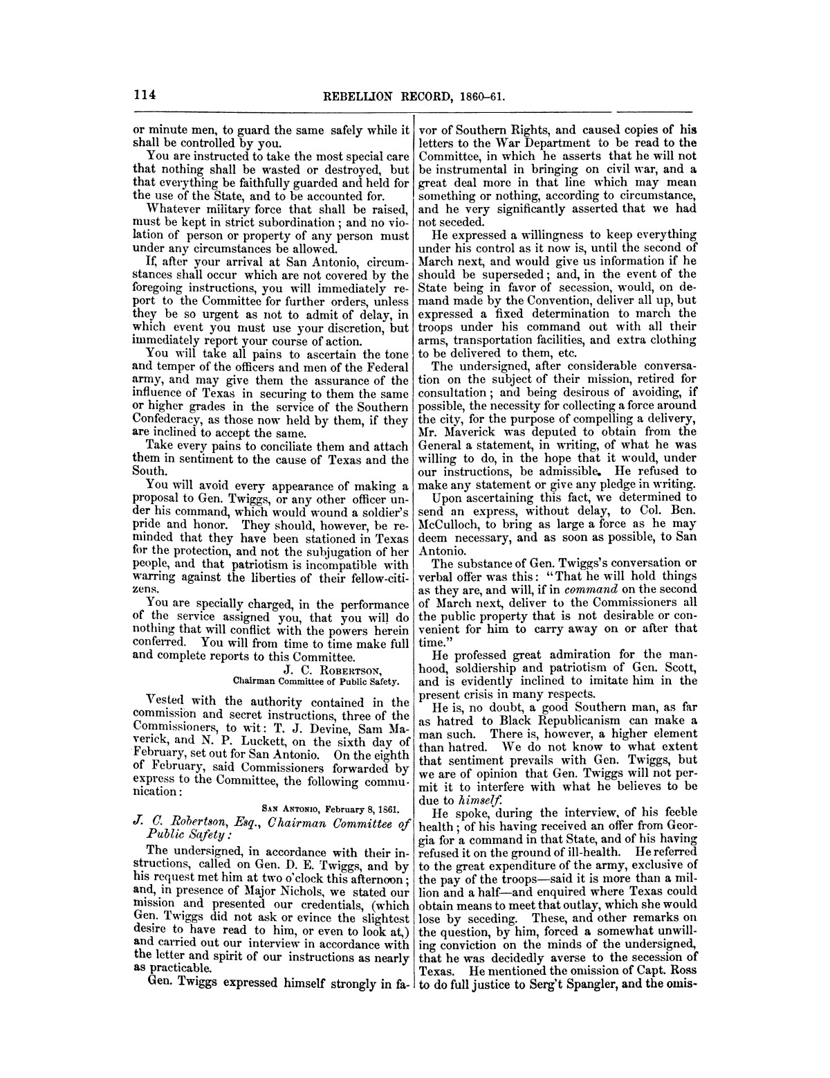 The treachery in Texas, the secession of Texas, and the arrest of the United States officers and soldiers serving in Texas. Read before the New-York Historical Society, June 25, 1861. By Major J. T. Sprague, U. S. A.                                                                                                      [Sequence #]: 8 of 36