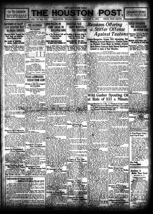 Primary view of object titled 'The Houston Post. (Houston, Tex.), Vol. 33, No. 123, Ed. 1 Sunday, August 5, 1917'.
