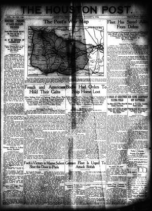 Primary view of object titled 'The Houston Post. (Houston, Tex.), Vol. 34, No. 126, Ed. 1 Thursday, August 8, 1918'.
