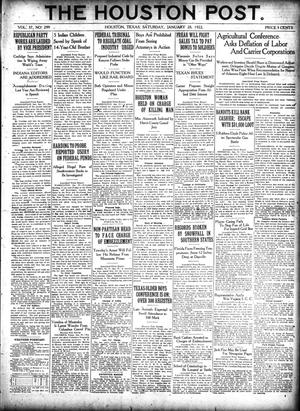 Primary view of object titled 'The Houston Post. (Houston, Tex.), Vol. 37, No. 299, Ed. 1 Saturday, January 28, 1922'.