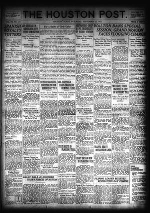 Primary view of object titled 'The Houston Post. (Houston, Tex.), Vol. 39, No. 171, Ed. 1 Saturday, September 22, 1923'.